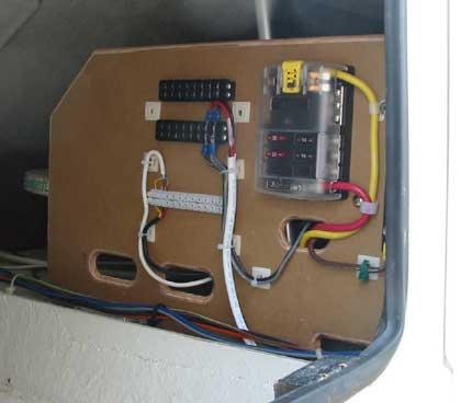 dc helm wiring on a pleasure boat for high power use the distribution switch panel was installed on the starboard side next to the helm seat and wired into the wiring board attention must be given here too